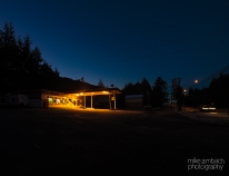 I don't shoot a lot at night or in the early morning but that's something I hope to change in the New Year. Something classic and inviting about this gas station - turned convenience store.